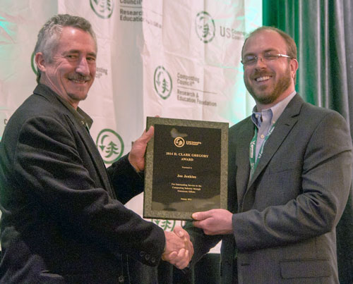 H. Clark Gregory Award, US Compost Council, 2015, Awarded to Joseph Jenkins