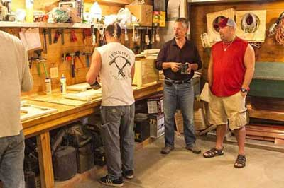 Larry the Cable Guy watches Loveable Loos being made on the History Channel's Only In America, May, 2013